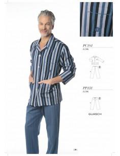 GUASH  pijama abierto de tela PC181