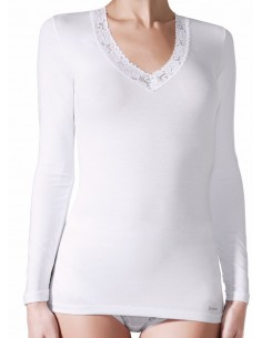 JANIRA camiseta de mujer en algodón ROSE