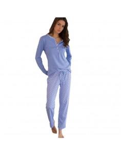 MASSANA pijama de mujer de motas en algodón P681205