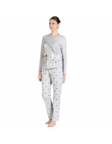 """SEÑORETTA pijama de mujer en algodón """"ovejitas"""" 182154"""