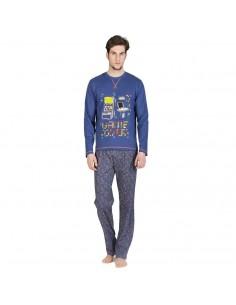 SOY pijama de hombre estampado en algodón 182615