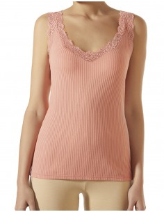JANIRA camiseta de canalé para mujer sin mangas Angel