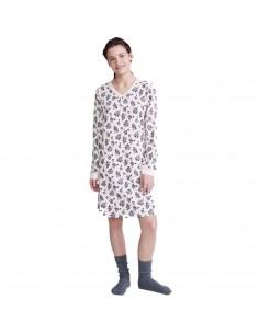 PROMISE camisón con puños de algodón N06161