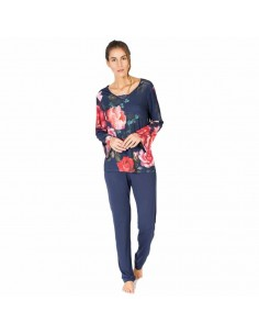 MASSANA pijama de mujer estampado flores P681242