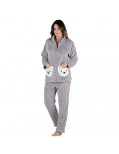 PETTRUS pijama de mujer bolsillos osos 2141
