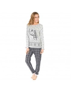 MASSANA pijama de mujer oso y motas P681206