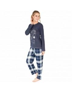 MASSANA pijama de mujer de estrellas y cuadros P681226