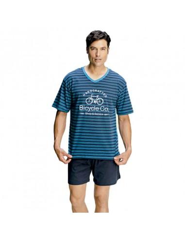 ASSMAN pijama de hombre listado 7270
