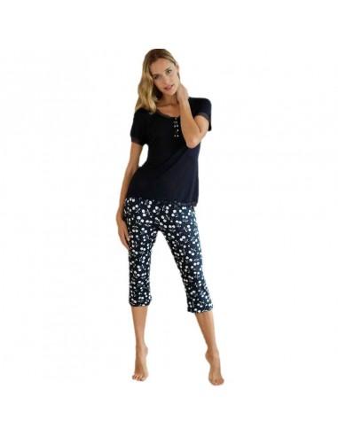 MASSANA pijama de mujer con pantalón pirata P191231