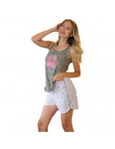 MASSANA pijama de mujer sin mangas flamencos P191210