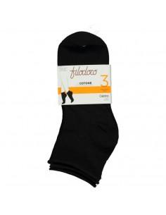 FILODORO pack 3 calcetines tobilleros en algodón sin puño