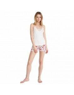 PROMISE pijama de mujer estampado con tirantes N07232