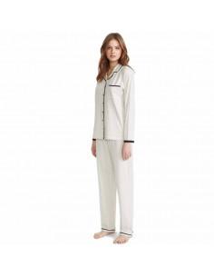 PROMISE pijama de mujer abierto en algodón N07272