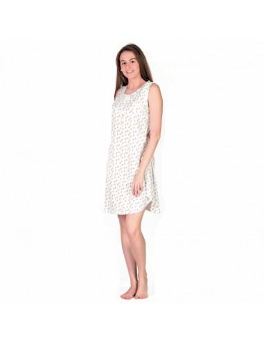 CUE camisón estampado en algodón 24315