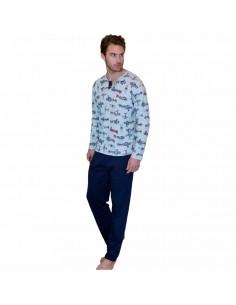 MASSANA pijama de hombre estampado aviones P691306