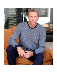 MASSANA pijama de hombre corbatero en algodón P691320