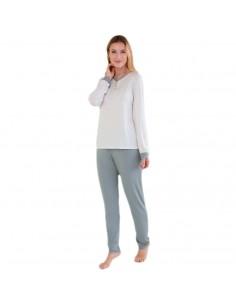 MASSANA pijama de mujer micro  topos P691250
