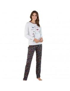 MASSANA pijama de mujer estampado círculos P691201