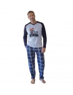 MASSANA pijama de hombre estampado de algodón P691311