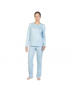 EGATEX pijama de mujer estampado topos 192523