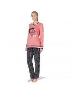 SEÑORETTA pijama de mujer estampado corazón 192100