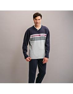 ASSMAN pijama de hombre listado 7316