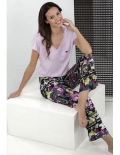 MASSANA pijama estampado flores P151265